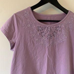 2/$18 Cleo / Pretty Purple / Short Sleeve / Tee